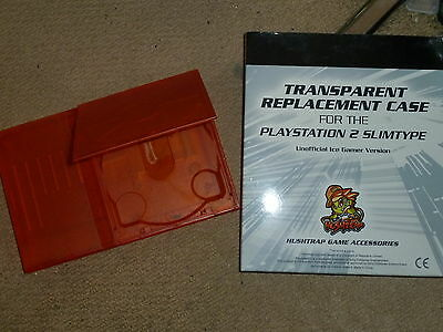 Sony Playstation 2 Ps2 Slim Replacement Console Case Shell Mod Clear Orange New!
