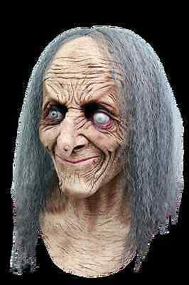 BRAND NEW Evil Old Lady DELUXE ADULT LATEX HAGATHA WITCH MASK W/ HAIR