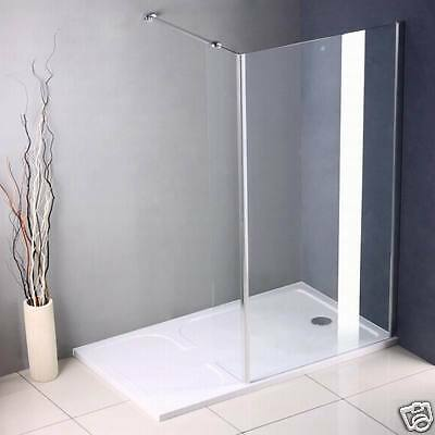 Walk In Wet Room Shower Enclosure and Tray Glass Cubicle Screen 1700x900mm