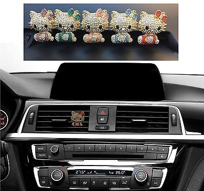 Bling Car Interior Decoration Red Crystal Rhinestone Hello Kitty Air Vent Clip
