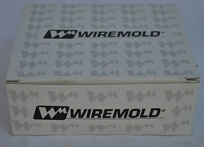 Lot of 10 NEW Wiremold Gray Duplex Outlet Faceplates 5507D-G