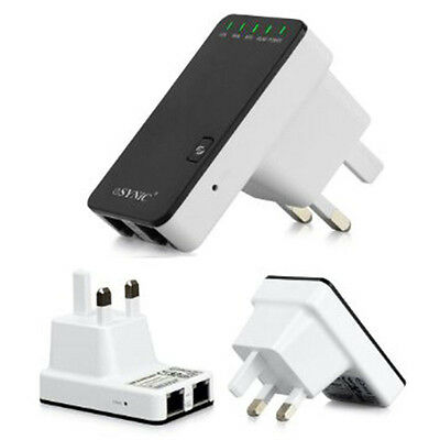 300Mbps Repeater Wireless N 802.11 EU Plug Router Signal Extender Booster New