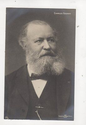Charles Gounod French Composer Vintage RP Postcard Music 332b