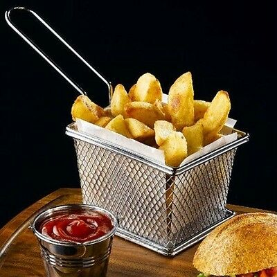 Mini Fries Cook Chip Frying Potato Boil Fry Special Stainless Steel Basket