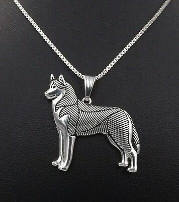 Alaskan malamute siberian husky pendant necklace New Legend  N090