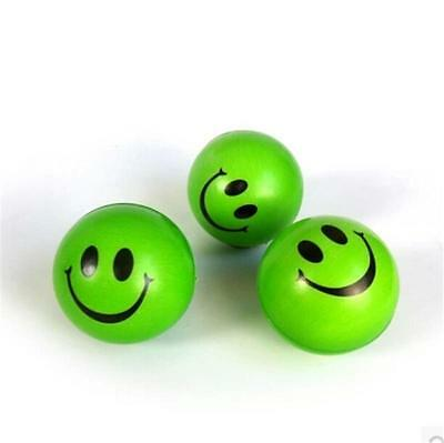 Awesome New 6.3cm Squeeze Ball Smile Face Hand Wrist Exercise Stress Ball FG UK