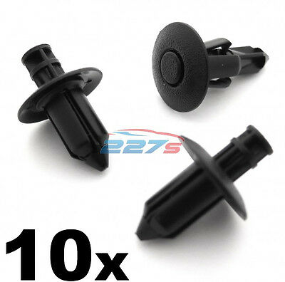 10x 8mm Honda Trim Clips for Boot linings, Upholstery & Engine Bay Shields Cowl