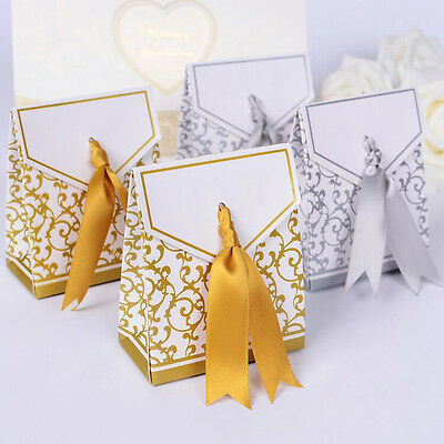100pcs Favor Sweet Cake Gift Candy Boxes Bags Anniversary Party Wedding Favours