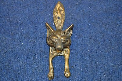 Lovely Vintage Antique Brass Fox Head, Tail & Legs Door Knocker RDL6274
