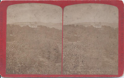 1870s GRAVES STEREOVIEW DELAWARE WATER GAP PA HOUSE FROM COOPER'S CLIFF