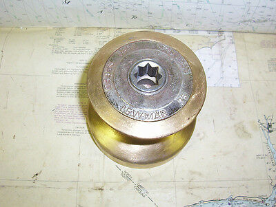 Boaters' Resale Shop of TX 1609 2422.01 LEWMAR 25 TWO SPEED BRONZE WINCH