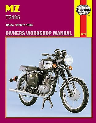 Haynes Manual 1270 - MZ TS125 Alpine & Luxus (76 - 86) LIMITED EDITION RE-PRINT
