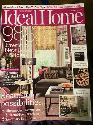 Ideal Home house/lifestyle/interiors magazine, October 2015