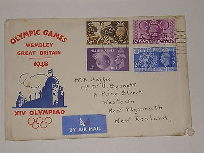 (A279) 1948 Olympic Games F.d.c Sent To New Zealand