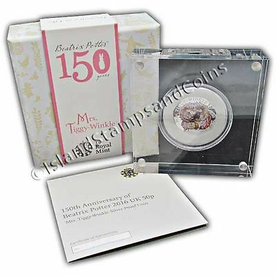 Mrs Tiggy-Winkle 2016 UK 50p Silver Proof Coin