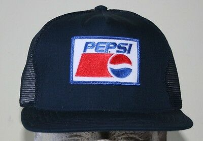 NEW Vintage 80's Pepsi Cola Soda Trucker Snapback Mesh Hat Cap Made in USA
