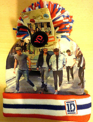 Job Lot 10 x Age 7-13 1D One Direction Photo Knitted Bobble Hats