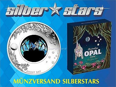 1 AU Dollar Ghost Bat  Fledermaus Opal Serien 2015  Proof 1 oz Silber