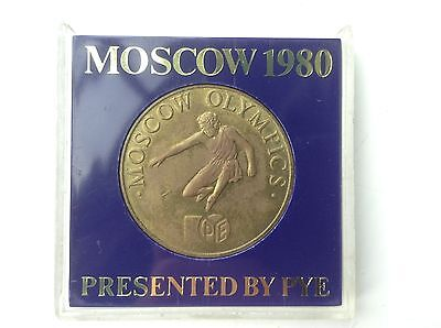 Moscow 1980 Olympics Medal - Presented By Pye - In plastic presentation case