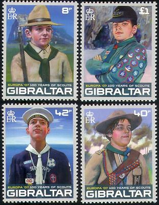 Gibraltar 2007 Europa/Scouts/Scouting/Youth/Leisure/Uniforms 4v set (s6392b)