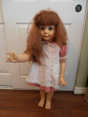 """Vintage Patti Doll marked ADG 35"""" Tall Stands Original Clothes Good Condition"""