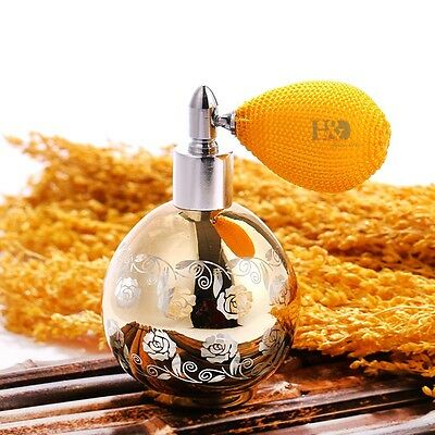 Gold Vintage Perfume Spray Empty Replacement Glass Bottle Atomizer Diffuser 60ml
