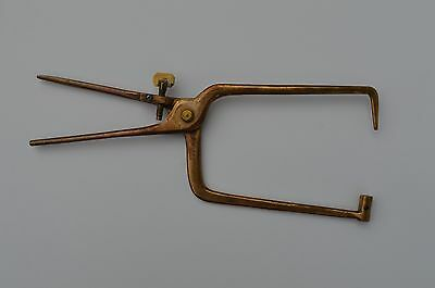 Unusual Antique Solid Brass Outside Caliper Measuring Gauge??? As Found