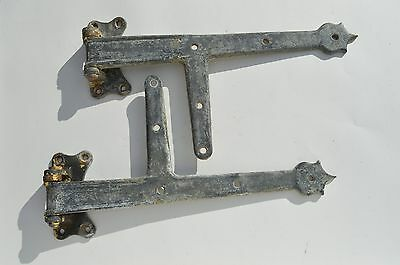 Fantastic Pair Of Quality Heavy Gauge Casted Metal Barn Door Shed Door Hinges