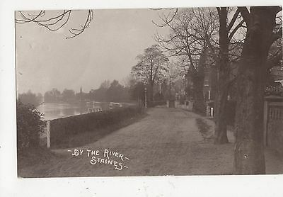 By The River Staines 1911 RP Postcard 355a