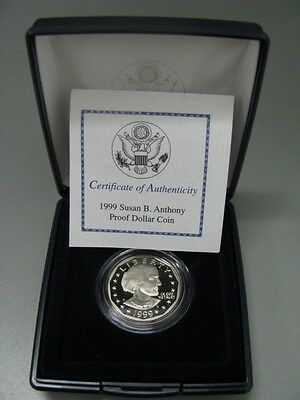 1999 P US Mint Susan B Anthony Proof Dollar Coin