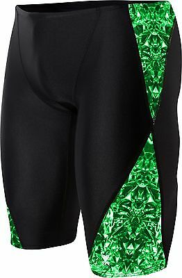 g1 Mens TYR Performance PALISADE BLADE SPLICE JAMMER Swimsuit Green MSRP $45
