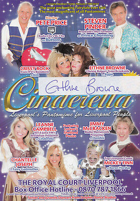 Eithne Browne in Brookside Cinderella Liverpool Hand Signed Theatre Flyer
