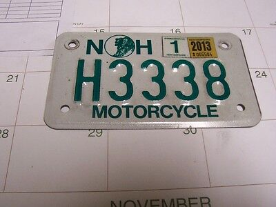 MOTORCYCLE  LICENSE  PLATE New Hampshire -