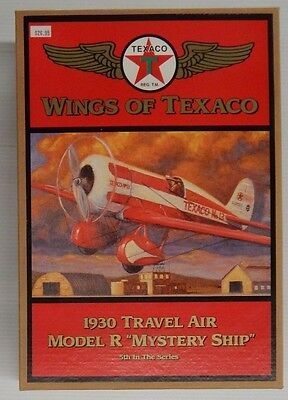 """Wings of Texaco 1930 TRAVEL AIR MODEL R """"MYSTERY SHIP"""" 5th In Series Coin Bank"""