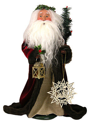 Byers Choice Silent Night SANTA CLAUS Retired Exclusive Signed JB Burgundy Robe