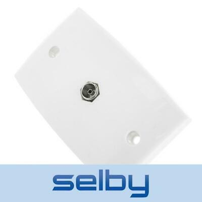 Wall Plate PAL to F-Type Socket Outlet for TV Antenna Aerial Coax Lead Cable
