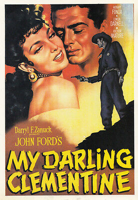 My Darling Clementine John Ford Film Movie Spain Film Cinema Poster Postcard