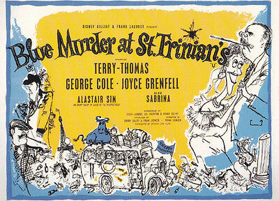 Blue Murder At St Trinians George Cole London Film Cinema Poster Rare Postcard