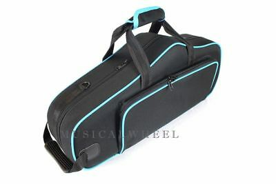 Alto Saxophone CASE -  Black with Blue Trim - Case ONLY - Contour Shape