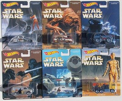 HOT WHEELS POP CULTURE STAR WARS SET OF 6 By Ralph McQuarrie