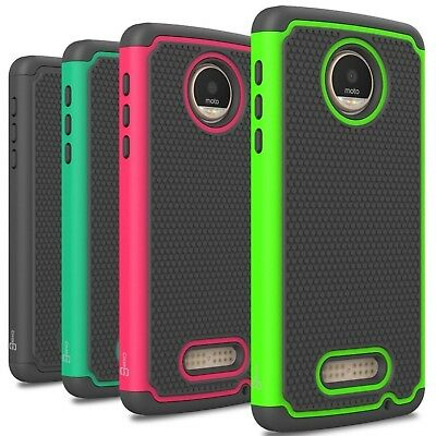 CoverON For Motorola Moto Z Play Droid Case HexaGuard Hard Phone Cover