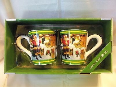 Official JOHN DEERE SANTA Large Coffee Mug Set ' Two For Toast ' NIB