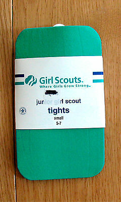 Official JUNIOR GIRL SCOUT TIGHTS, Teal Green NEW in Package Chrstmas GIFT