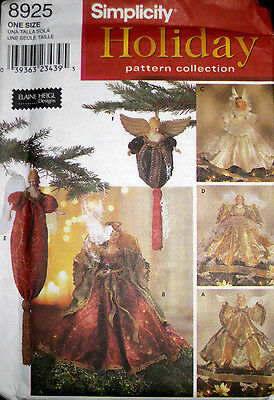 Simplicity Christmas Holiday Angel Tree Topper Ornaments Pattern 8925 UC