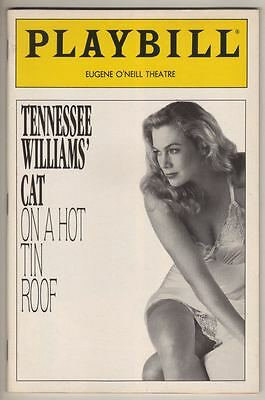 "Kathleen Turner & Charles Durning  ""Cat on a Hot Tin Roof""   Playbill  1990"