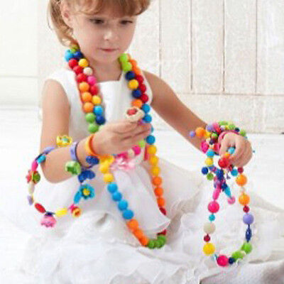 DIY Pop-Arty Snaps Conectors Beads Necklace Puzzle Toys Kids' Xmas Gifts
