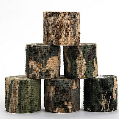 Shooting Protable Camouflage Army Camo Hunting Wrap Rifle Stealth Tape 5cm x4.5m