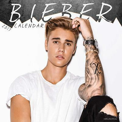 Justin Bieber Unofficial 2017 Square 12 Month Celebrity Calendar (P)
