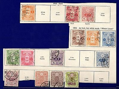 Stamps ~ JAPAN JAPANESE Early 1900s ~ Assortment Odds Mix