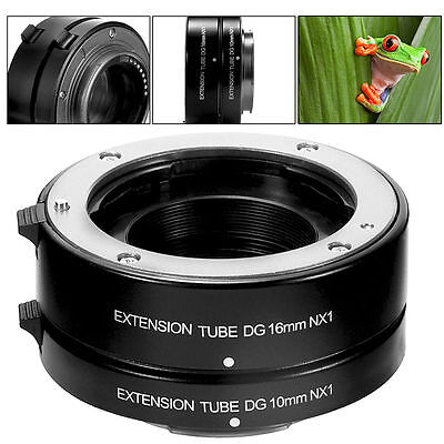 Auto Focus AF Macro Extension Tube 10mm 16mm Set NX1 for Samsung NX Mount DC683